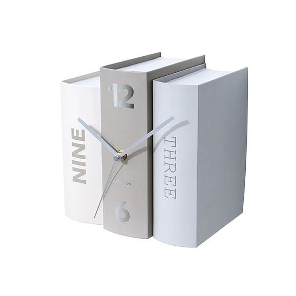 Grijs Tafelklok Book - Basics Paper - 20x15x20cm