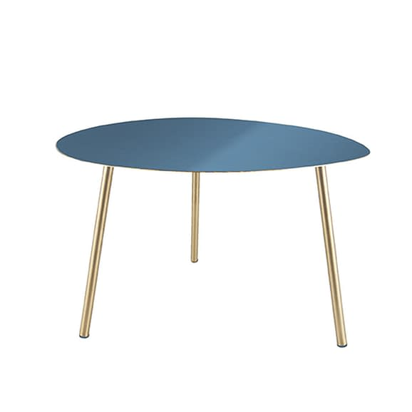 Blauw Side table Ovoid - Emaille Blauw - Small - 56x50x37cm