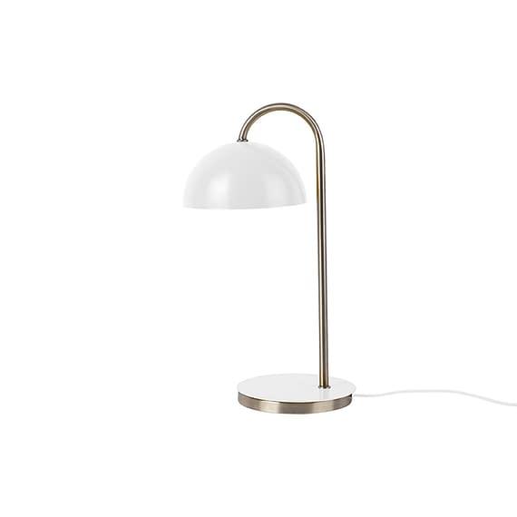 Leitmotiv - Tafellamp Dome - IJzer mat Wit - 20x14x36