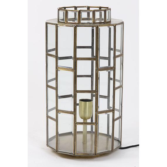 Tafellamp Ø24x45 cm SØSTRENE antiek brons+glas