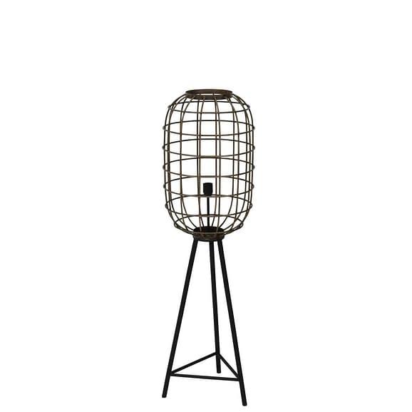 Vloerlamp TOAH - oud brons-mat zwart - M