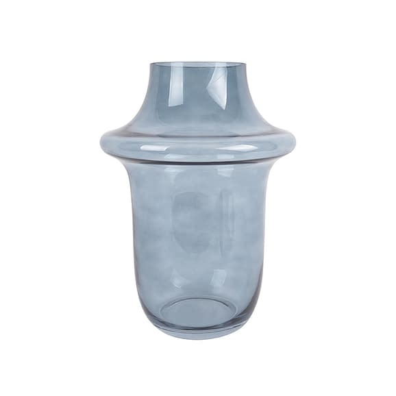 Blauw Vaas Prestige - Glas Donkerblauw - 15x20cm