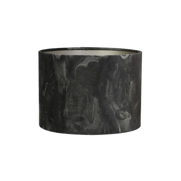 Kap cilinder 30-30-21 cm MARBLE donker groen
