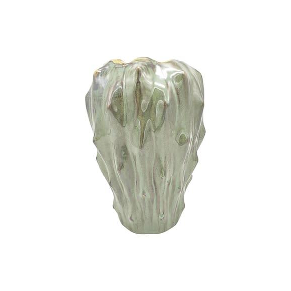 Groen Vaas Flora - Keramiek Donker Groen - Large - 19