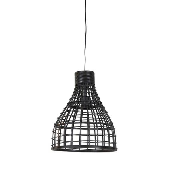 Hanglamp Puerto - Rotan Zwart - Ø34x41
