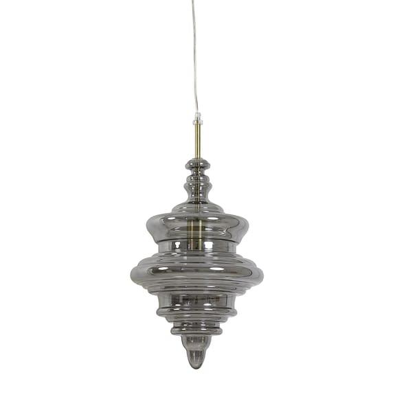Hanglamp Rivne - Antiek brons/Smoke - Ø26 x 40 cm