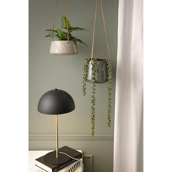 - Hanging pot Unique glazed grey