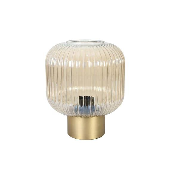 tafellamp goud glas