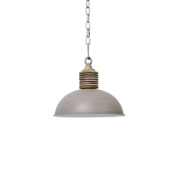 Hanglamp AVERY - Beton/Wit Kop Hout - L