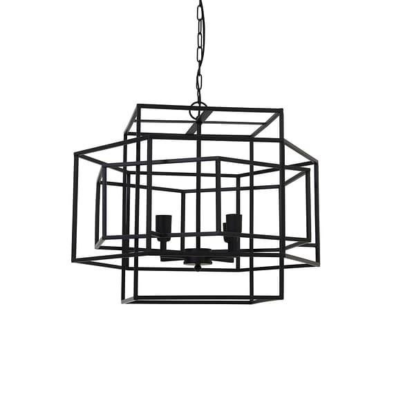Hanglamp 4L 69x64x56 cm DALISIA mat zwart