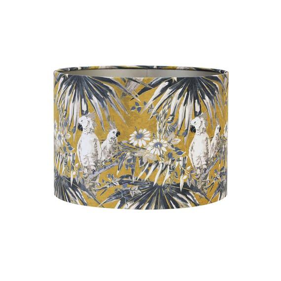 Kap cilinder 35-35-30 cm VELOURS parrot oker