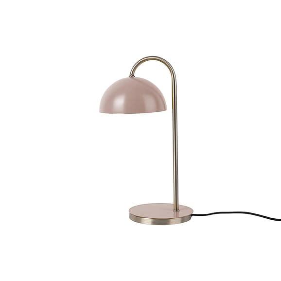Leitmotiv - Tafellamp Dome - IJzer mat faded Roze - 20x14x36