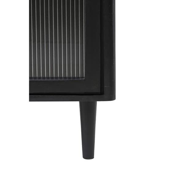 Light & Living - Wandkast Mocu - Glas/Hout Zwart - 100x40x85 cm