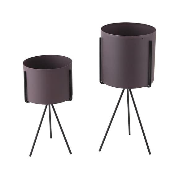 Paars Plantenpot set Pedestal - IJzer Donkerpaars - 29