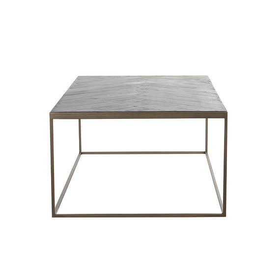 Light & Living - Salontafel Chisa - Hout Zwart/Antiek Brons - 120x65x40 cm