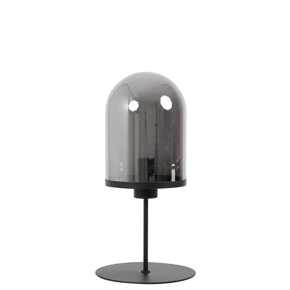 Tafellamp Maverick - Mat Zwart/Smoke - Ø22 x 50 cm