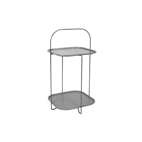 Grijs Side table Trays - Staal Muisgrijs - 70x39x39cm