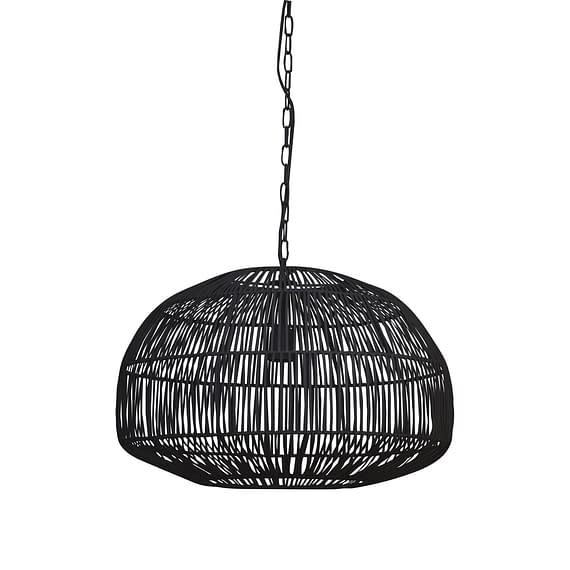 Hanglamp Ø57x40 cm TEMARI mat zwart