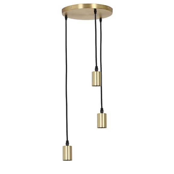 Pendel Hanglamp Brandon - Antiek Brons - 3L - Ø30 x 117
