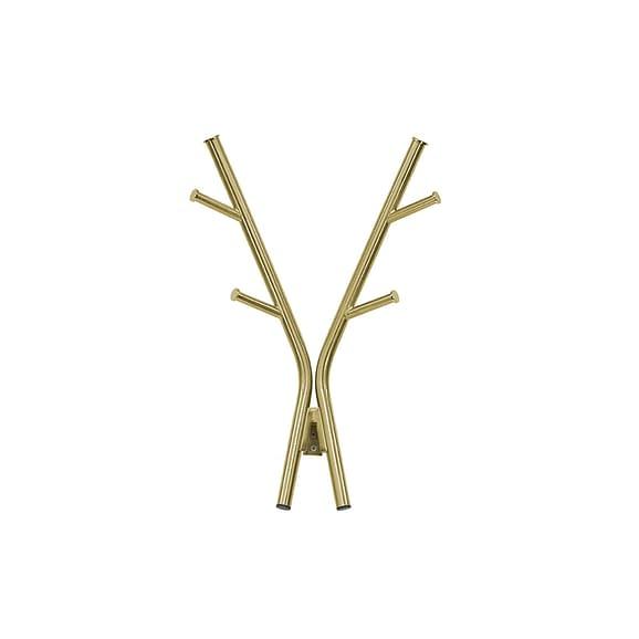 Goud Wandkapstok Deer - Staal Antiek Goud - 47