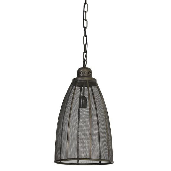 Hanglamp Ø28x53 cm PRUE donker brons
