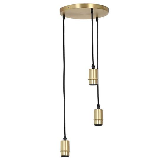 Pendel Hanglamp Braidy - Antiek Brons - 3L - Ø30 x 117