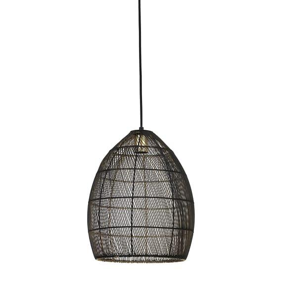 Hanglamp Ø30x37 cm MEYA zwart-goud