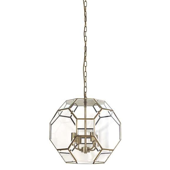 Hanglamp Ø34x40 cm LENNOX brons+glas