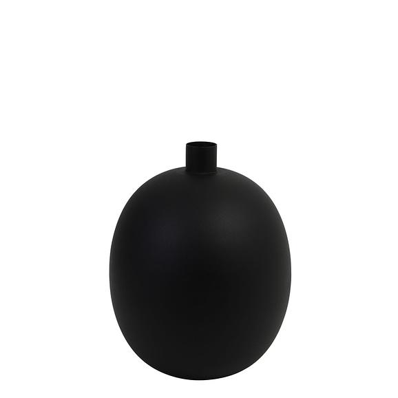 Vaas deco Ø26x34 cm BINCO mat zwart