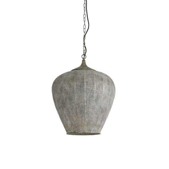 Hanglamp Lavello - Antiek Goud/Wit - Ø45 x 58 cm