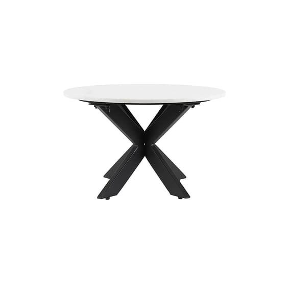 Light & Living - Ronde Salontafel Tomochi - Marmer Wit/Zwart - Ø65x42 cm