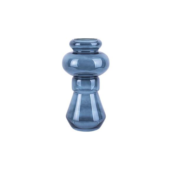 Blauw Vaas Morgana - Glas Donker Blauw - Medium - 18x35cm