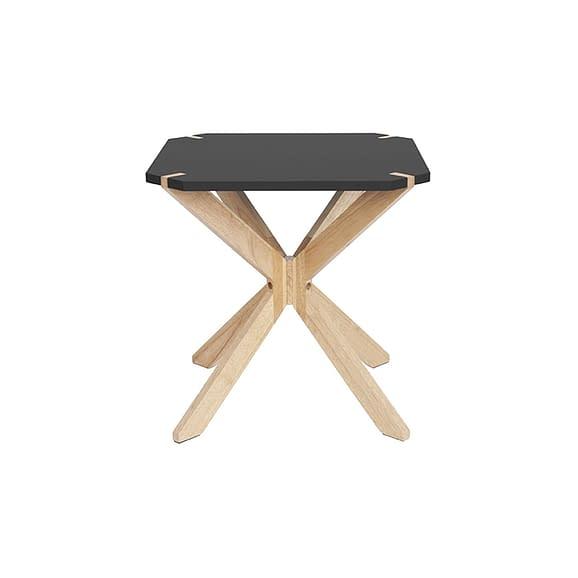 Zwart Side table Mister X - Rubber Hout