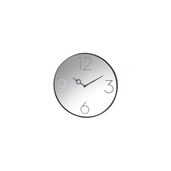 Parlane - Klok Mirrored - Zwart - Ø46 x 4 cm