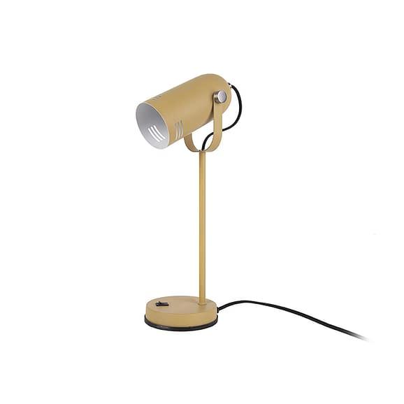 Geel Tafellamp Husk - IJzer Mosterdgeel - 46x12