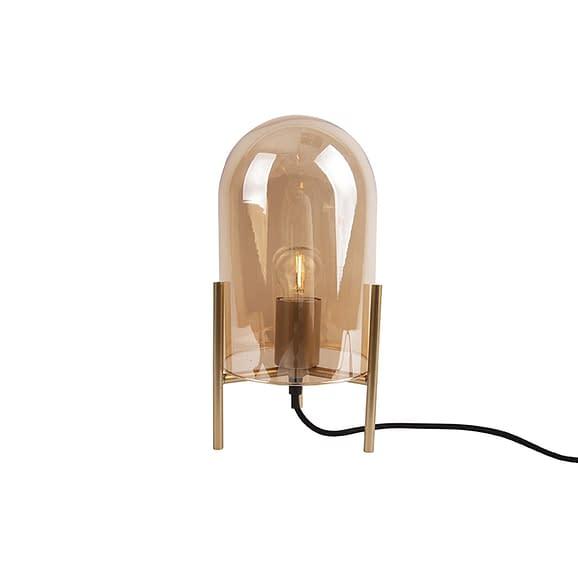 Leitmotiv - Table lamp Glass Bell amber brown