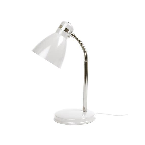 Wit Tafellamp Study - Metaal Wit - 34x11