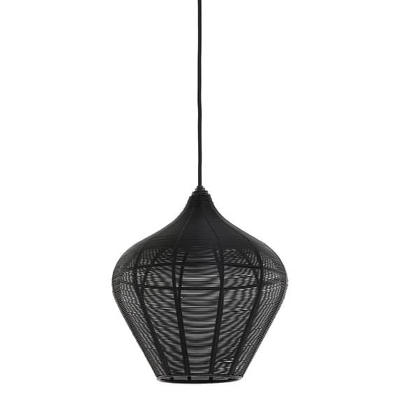 Hanglamp Alvaro - Zwart - Ø27x29