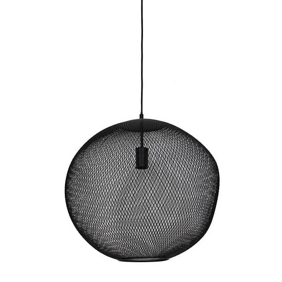 Hanglamp Ø50x48 cm REILLEY mat zwart