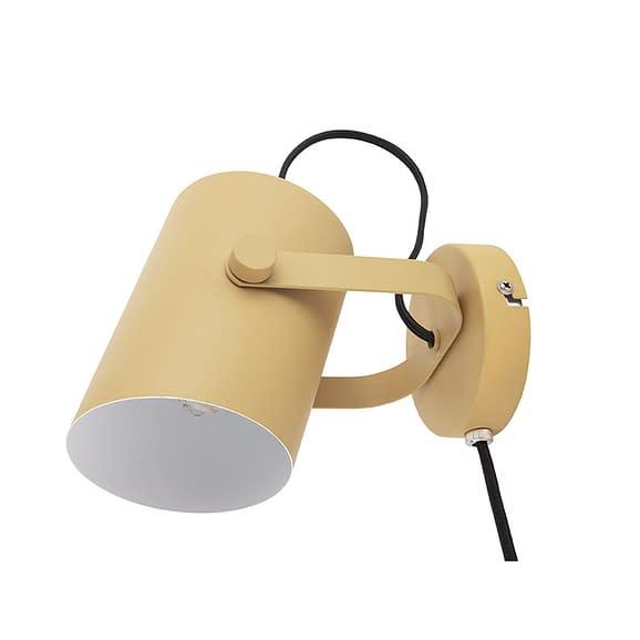 Geel Wand lamp Snazzy - Metaal Mat Mosterdgeel - 15x10x10cm