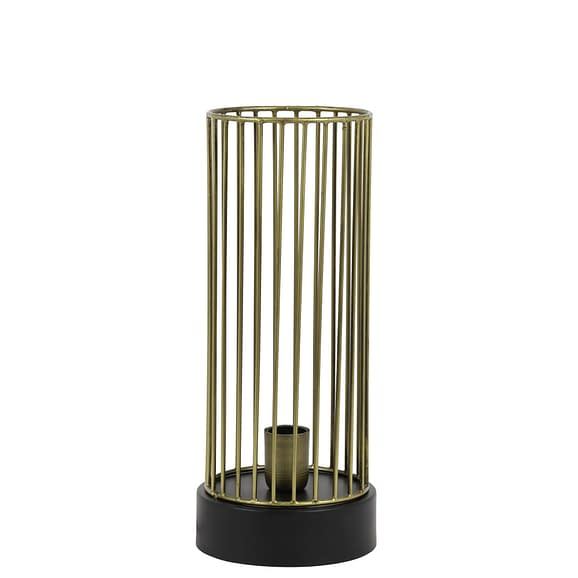 Tafellamp Ø17x40 cm JORIM antiek brons-mat zwart