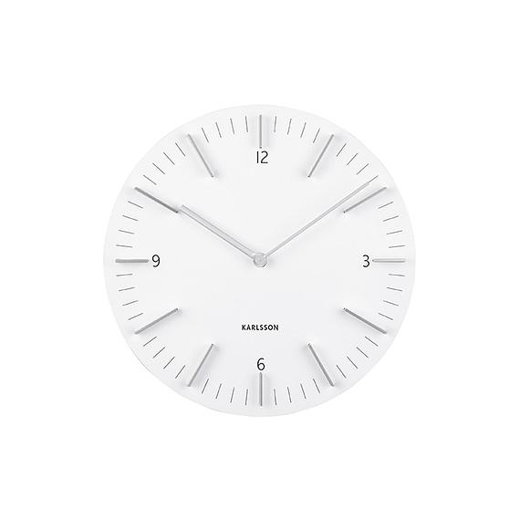 Wit Wandklok Detailed - Wit - Ø30cm