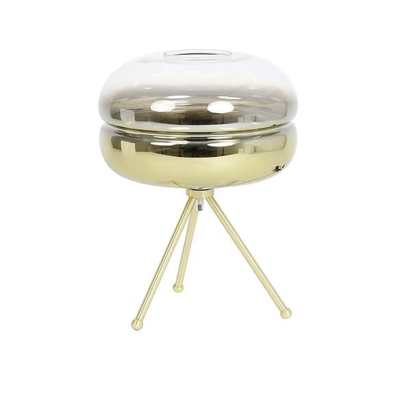 Tafellamp Ø29x35 cm CHERLE glas goud+mat goud