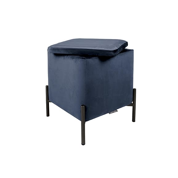 Blauw Poef Snog - Velvet Donkerblauw