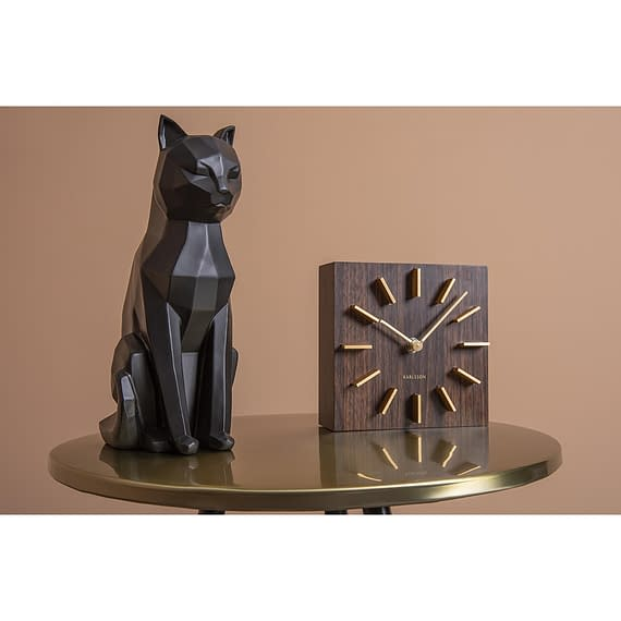 - Statue Origami Cat sitting polyresin matt black