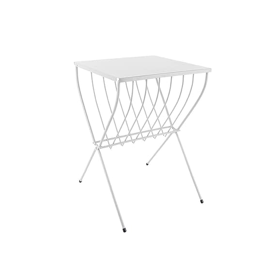 Wit Side table Cross - Staal Wit - 36x36x52cm