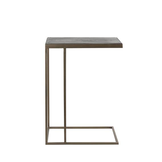 Light & Living - Bijzettafel Chisa - Hout Zwart/Antiek Brons - 45x30x62 cm
