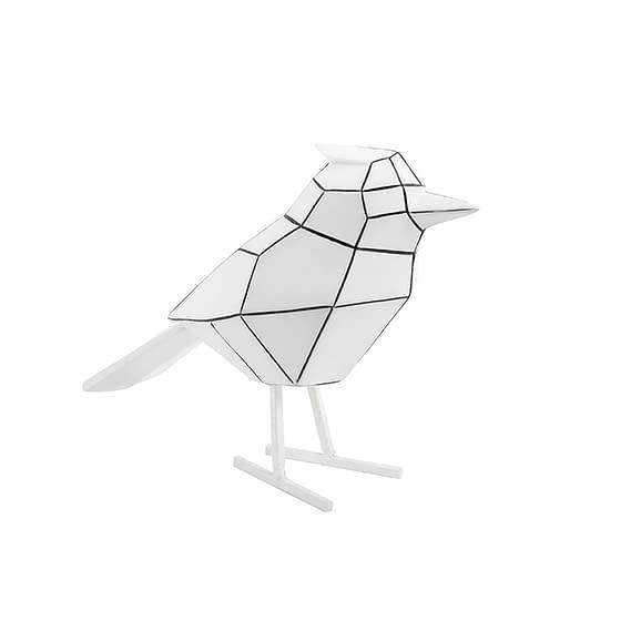 Wit Ornament Bird - Polyresin Wit