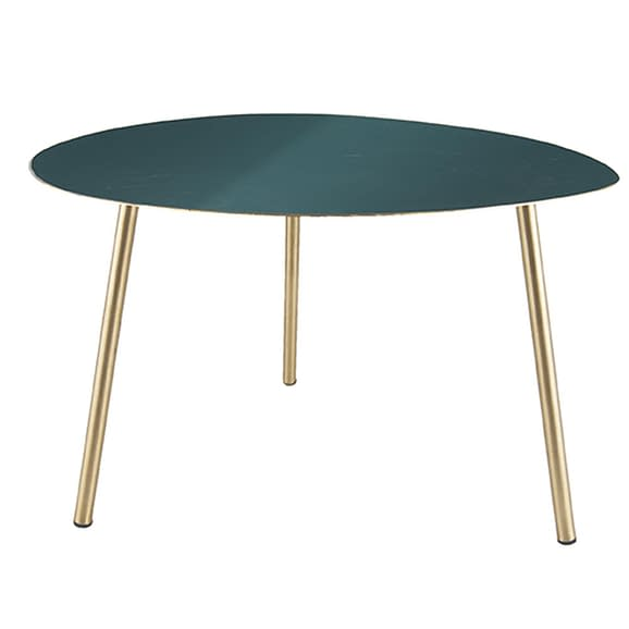 Groen Side table Ovoid - Emaille Groen - Large - 64x58x42cm