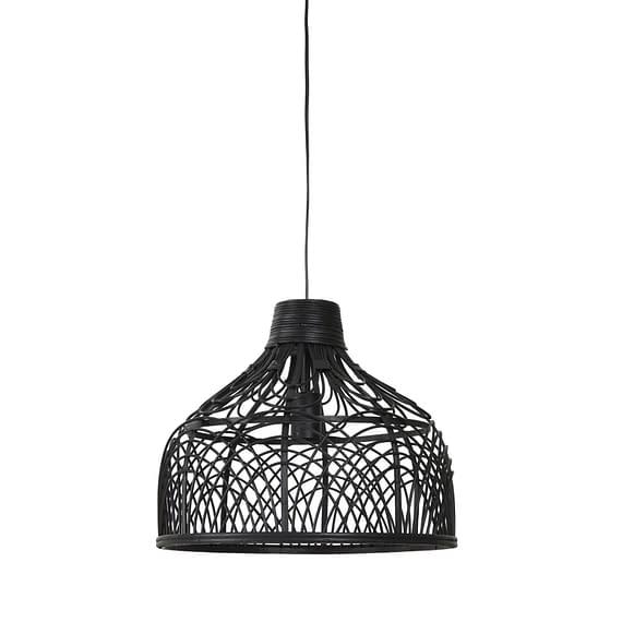 Hanglamp Pocita - Rotan Zwart - Ø42x35 cm
